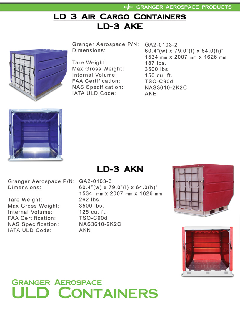 LD 3 Specifications, Dimensions, LD 3 Air Cargo Container Dimensions, AKE Dimensions, AKN dimensions